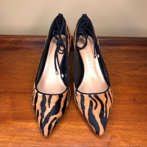 Anthropologie Shoes - Anthropologie Vicenza Montreal Animal Print Heels